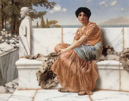 In the Days of Sappho, John William Godward (17.25X22)