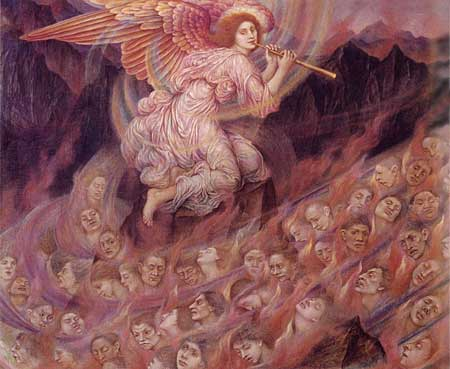 An  Angel Piping to the Souls in Hell, Evelyn De Morgan