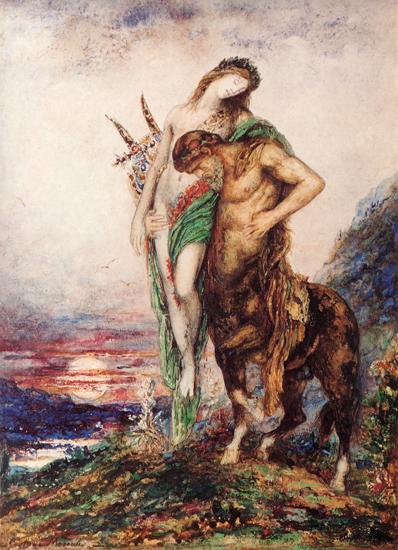Dead Poet Borne by a Centaur, Gustave Moreau