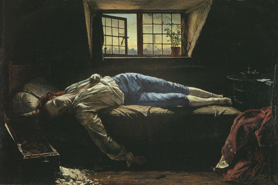Death of Chatterton, Henry Wallis (16X24)