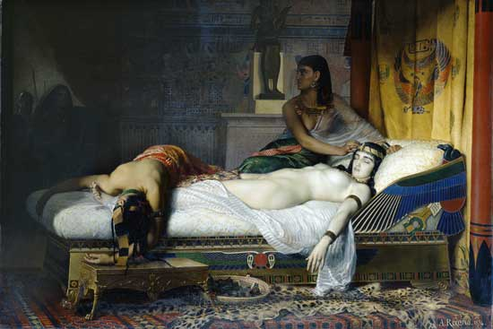 The Death of Cleopatra Jean-Andre Rixens