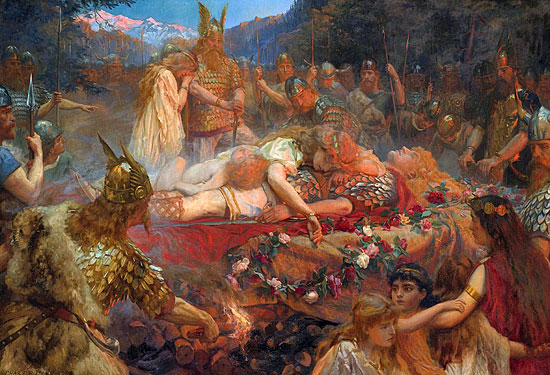 Death of a Viking Warrior, Charles Ernest Butler (22X32.25)