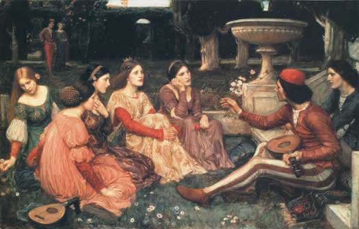 Decameron, John William Waterhouse