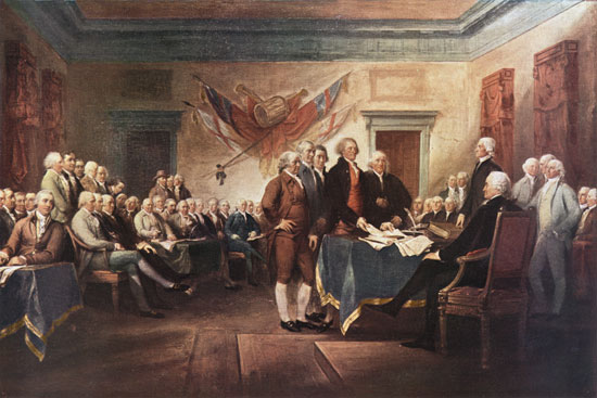 The Declaration of Independence,Trumbull (16X24)