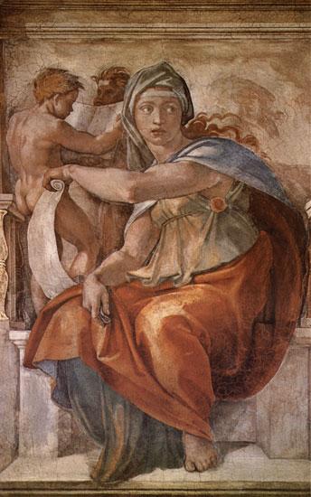 The Delphic Sibyl, Michaelangelo (18X28.75)