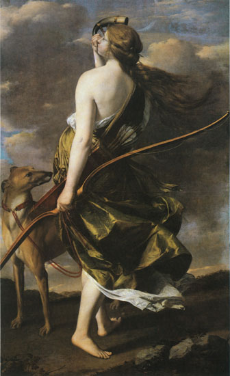 Diana the Huntress, Gentileschi (22X36)