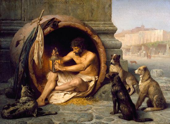 Diogenes, Jean Leon Gerome (17.6X22)