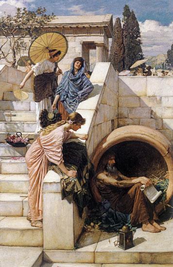 Diogenes, John William Waterhouse
