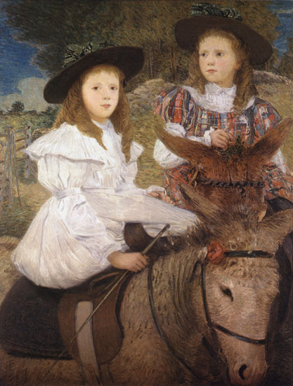 The Donkey Ride, Julian Alden Weir (22X29)