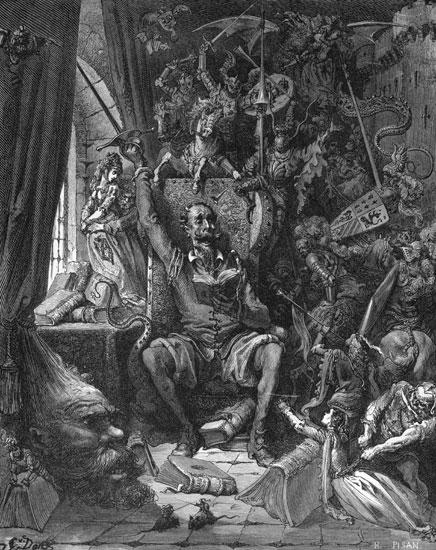 Don Quixote, Gustave Dor� (16X20)