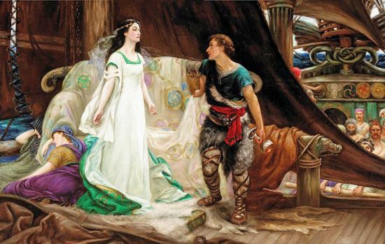 Tristan and Isolda, Herbert James Draper (18X28.5)