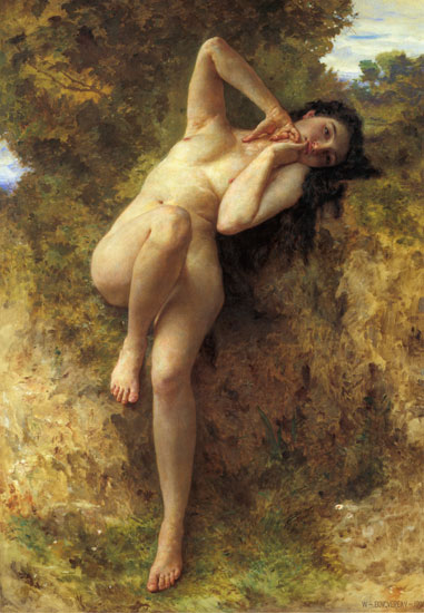 A Dryad, William-Adolphe Bouguereau (18X26)