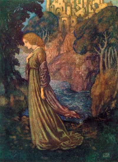 Annabelle Lee, Edmund Dulac (14.5X20)