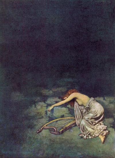 Silence, Edmund Dulac (14.5x20)