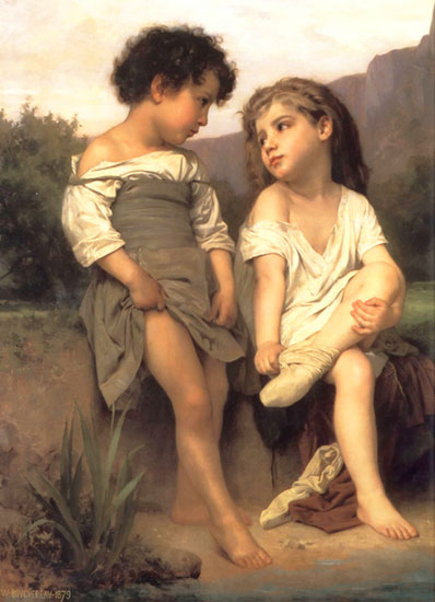 The Edge of the Brook, William-Adolphe Bouguereau