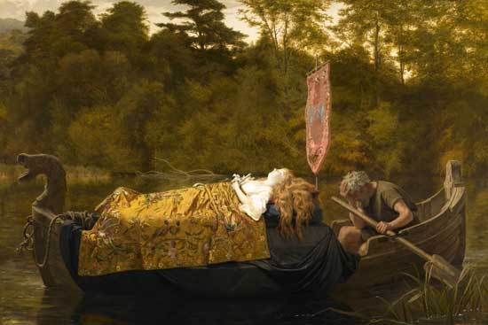 Elaine, The Lady of Shalott, Anderson (20x30)