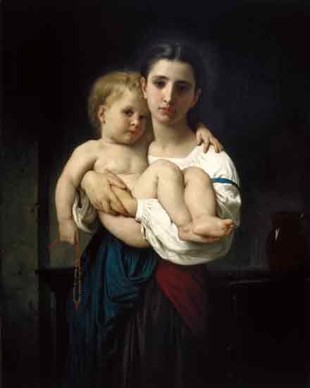 Elder Sister, Bouguereau (16X20)