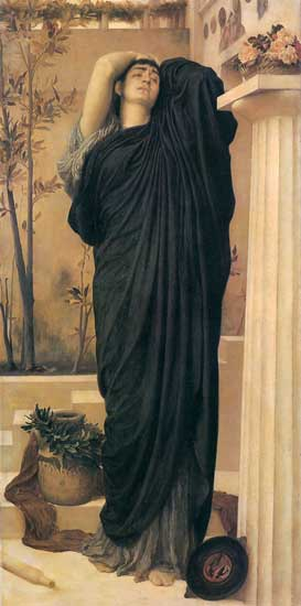 Electra at the Tomb of Agamemnon, Fredric, Lord Leighton (16X32)
