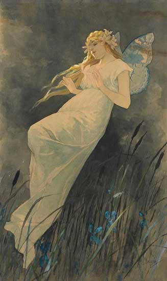 Elf with Iris, Mucha