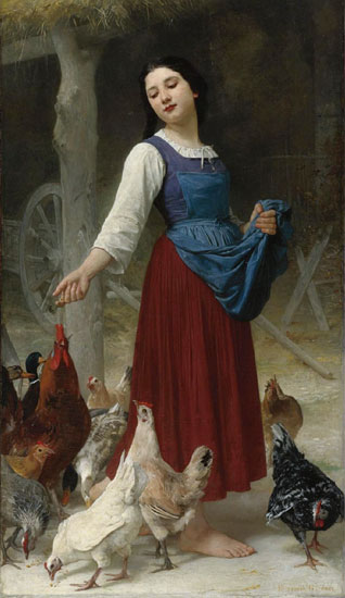 The Farmer's Daughter, Elizabeth Gardner Bougereau