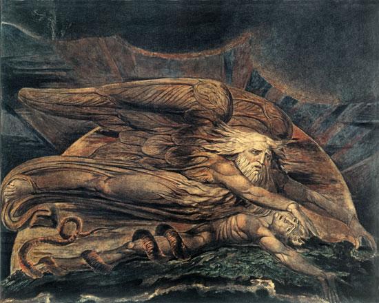 Elohim Creating Adam, William Blake