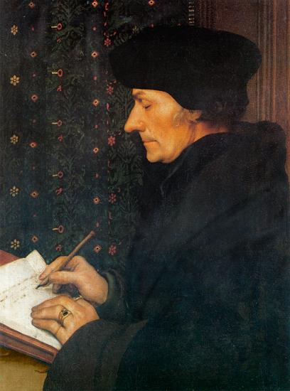 Desiderius Erasmus, Holbein (22X29.6)