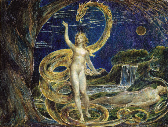 Eve Tempted by the Serpent, Blake (16 X 21.2)