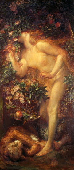 Eve Tempted, George Frederic Watts (14X32)