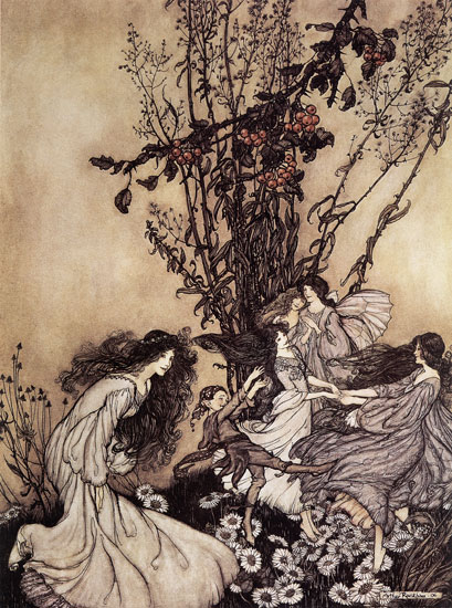 Fairies Dancing, Arthur  Rackham