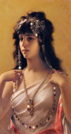 An Oriental Beauty, Luis Ricardo Falero