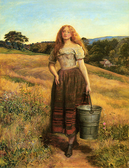 The Farmer's Daughter, Sir John Everett Millais (22X28.7)