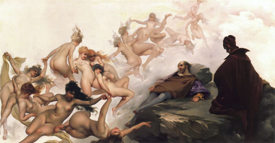 Faust and Mephisto, the Dream, Luis Ricardo Falero (18X34)