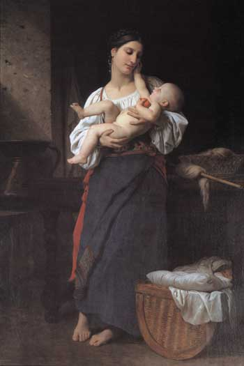 First Caresses, Bouguereau (16X24)