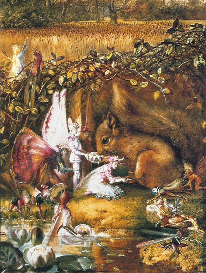 The Wounded Squirrel, John Anster Christian Fitzgerald (16.5X22)