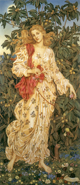 Flora, Evelyn De Morgan (14.8X34)