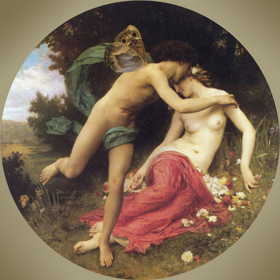 Flora and the Zephyr, Bouguereau (16X16)