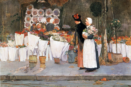 At the Florist, Hassam