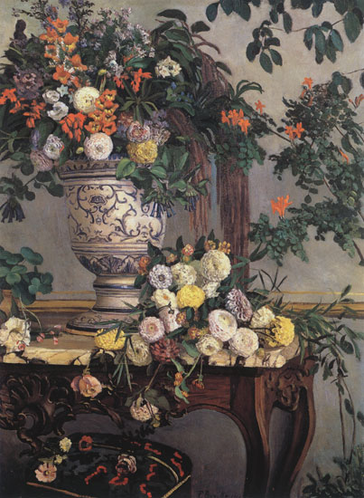 Flowers, Fredric Bazille, (22X30)
