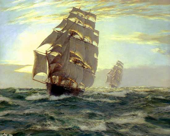 Flying Cloud,  Montague Dawson