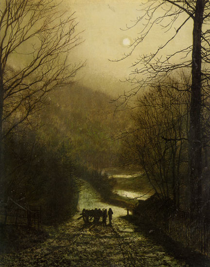 Forge Valley near Scarborough, John Atkinson Grimshaw (22X28)