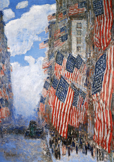 Fourth of July,Childe Hassam (16X22.65)