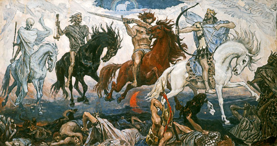Four Horsemen of the Apocalypse,Vasnetsov (18X34)