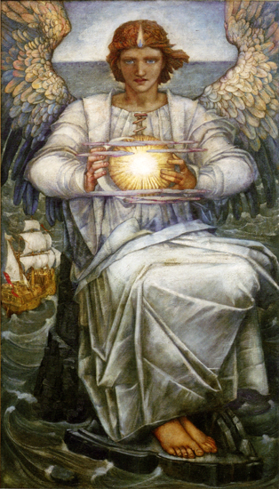 Angel of the Sea, Edward Reginald Frampton (19.4X34)