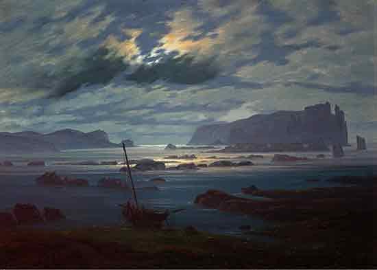 Northern Sea in the Moonlight, Caspar David Friedrich    , David Casper Friedrich