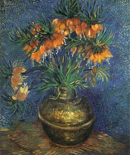 Fritillaries in a Copper Vase, van Gogh (20X24)