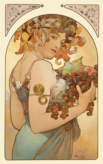 Fruit, Mucha (16X25.5)