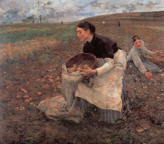 Gathering Potatoes, Jules Bastien-Lepage