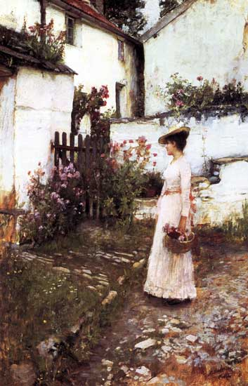 Gathering Summer Flowersl, John William Waterhouse