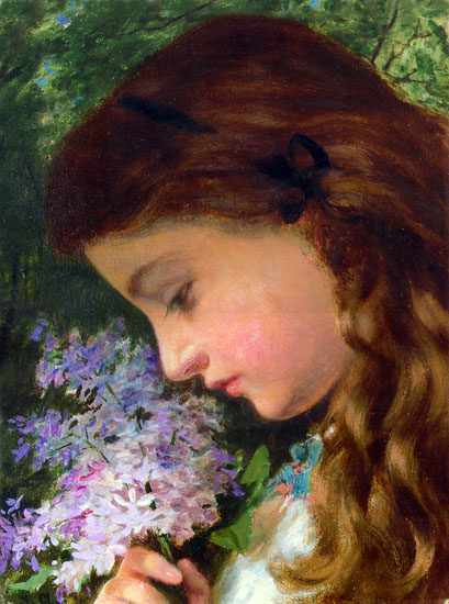 Girl with a Lilac,Sophie Anderson (16X21.5)