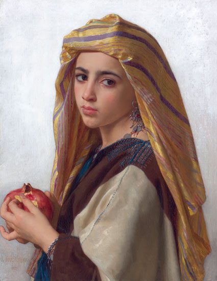 Girl with a Pomegranete, William-Adolphe Bouguereau